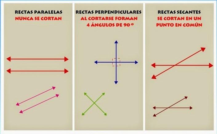 Resultado de imagen de ejercicios de rectas paralelas y perpendiculares