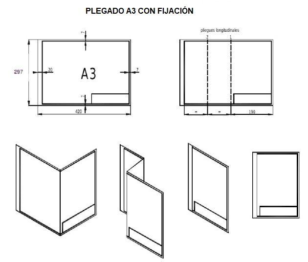 Plegado de planos aprende facil imagenes y video for Plano de planta dibujo tecnico