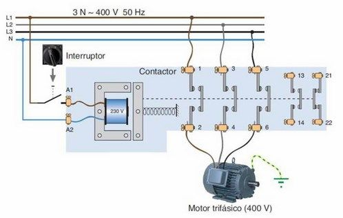 Contactor Funcionamiento Monofasico Y Trifasico