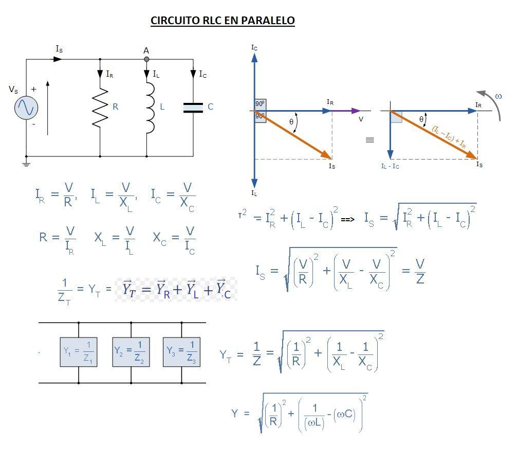 Circuito Paralelo : Circuitos rlc en paralelo corriente alterna y mixtos