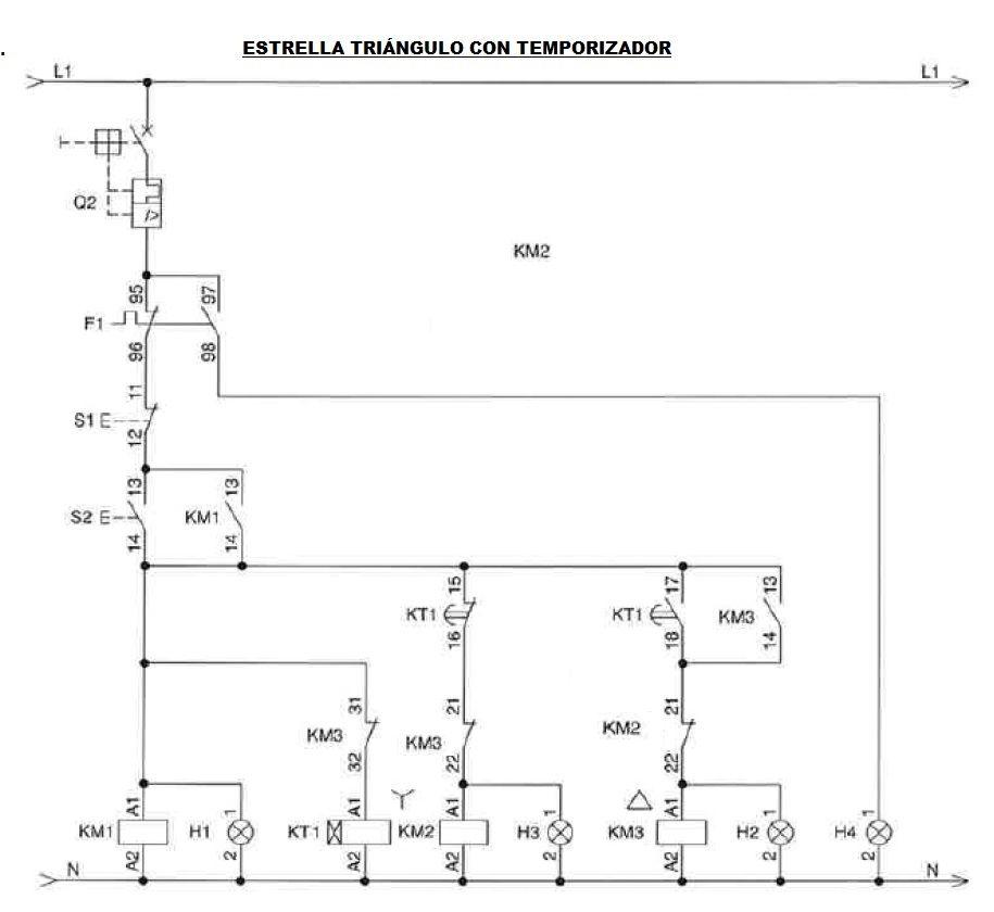 Arranque Estrella Triangulo Varios Circuitos Motores Trifásicos