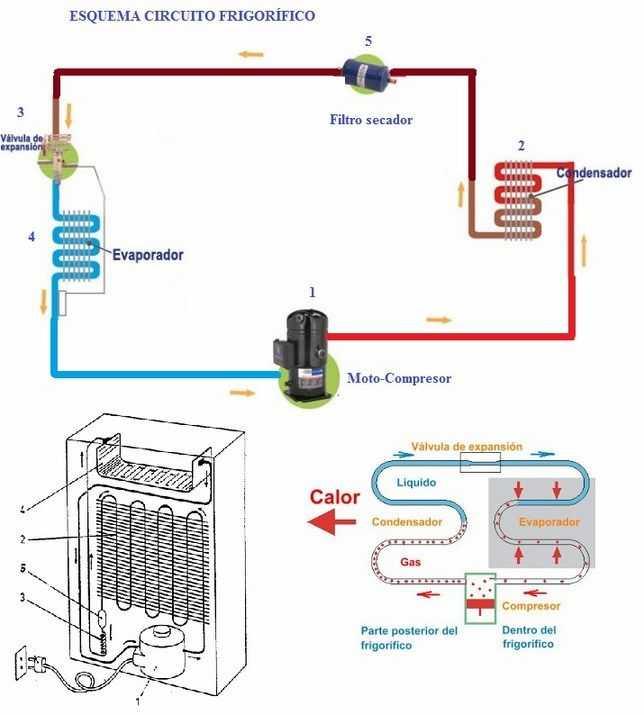 Refrigerador Partes Del Refrigerador Y Funcionamiento