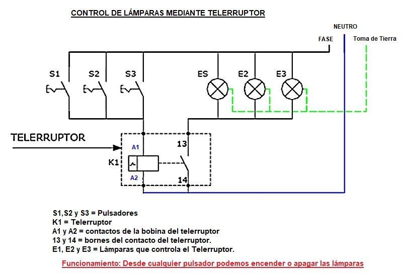 Telerruptor Rele de Impulsos o Interruptor Remoto