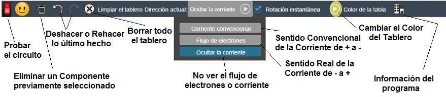 simulador electronico menu