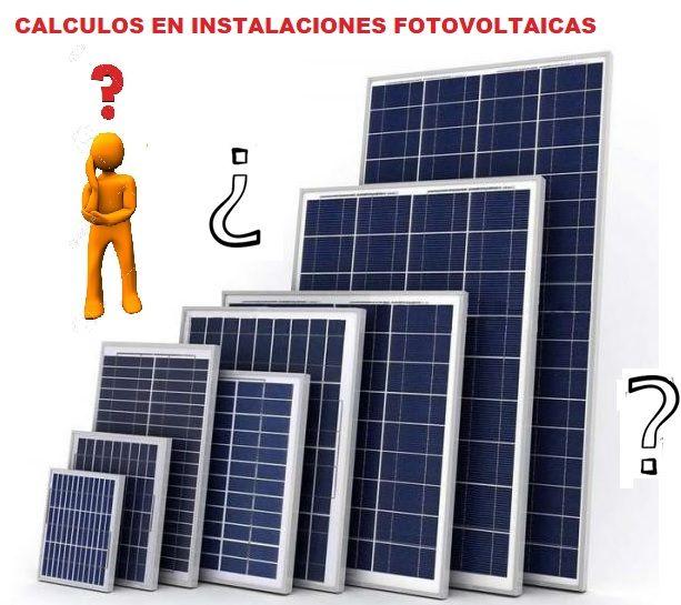 Calculos Instalaci 243 N Solar Fotovoltaica