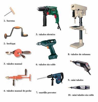 Nombres de herramientas